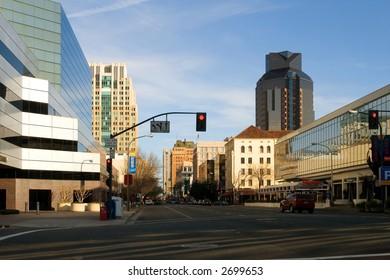 Sacramento Downtown at sunset