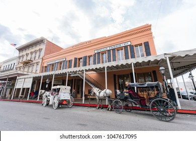 Sacramento, FEB 22: Afternoon view of the famous Old Sacramento Historic District on FEB 22, 2018 at Sacramento, California