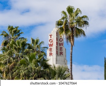 Sacramento, FEB 22: The famous Tower Theatre on FEB 22, 2018 at Sacramento, California