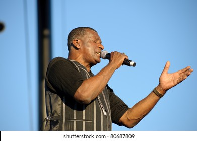 SACRAMENTO - JULY 7: Carl Carlton performs onstage in the Super 70's Soul Jam concert at Thunder Valley Casino and Resort in Sacramento, California on July 7, 2011.