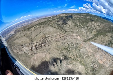 Sacramento Mountains, which even today are rough and rugged. Riding a sailplane  is a real joy. No engine noise, very smooth and you get a great view. Alamogordo, New Mexico 15 September 2018