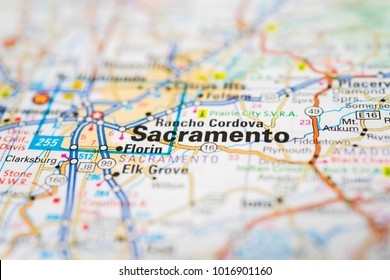Sacramento on USA map