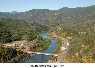 Sacramento River below Shasta Dam, Shasta Lake, California