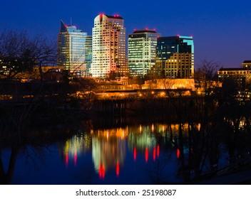 Sacramento skyline at night