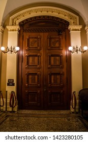 Sacramento State Capital, CA, USA - October 4, 2017: The large hallways of the inside building of California State House
