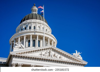 Sacramento State Capitol building in California.