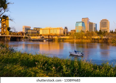 Sacramento at sunset