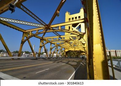 Sacramento, USA - 31 May 2014: Golden Gate Bridge in Sacramento, California, USA