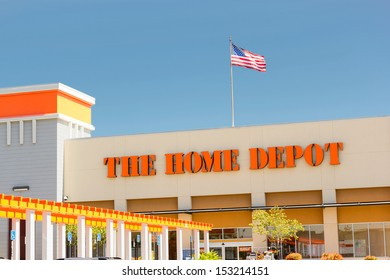 SACRAMENTO, USA - SEPTEMBER 5, 2013: The Home Depot store. The Home Depot is an American retailer of construction products and services, operates many stores across the United States.