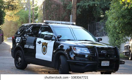 Sacramento,CA US 5/01/2018 A K9 unit blocks off a neighborhood street in Sacramento due to a disturbance