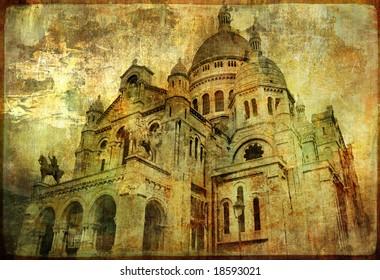 Sacre coeur - artwork in painting style