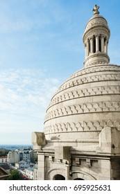 Sacre-Coeur dome aerial view in Paris