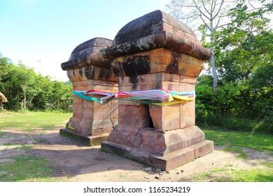 Sacred altar near Pha-Mor-E-Daeng cliff, Sisaket Province