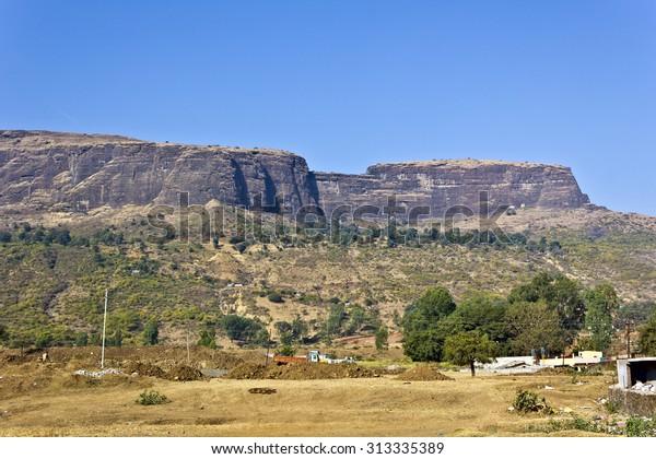 Sacred Brahmagiri (Mountain of BVrahma) hills close to village Trimbak, Maharashtra