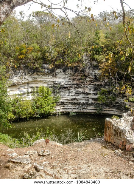 The Sacred Cenote refers to a noted cenote at the pre-Columbian Maya archaeological site of Chichen Itza, in the northern Yucatán Peninsula.