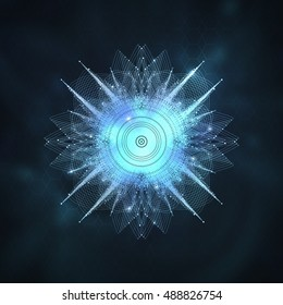 Sacred geometry abstract background.