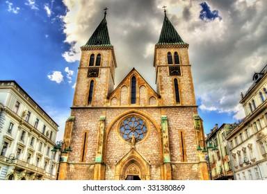 The Sacred Heart Cathedral in Sarajevo - Bosnia and Herzegovina