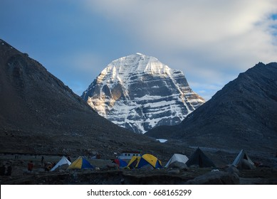 Sacred mount Kailash in western Tibet. The north face of the mountain.