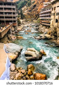 Sacred and one of the most holiest river flowing through the Kasol region in Himachal Pradesh, India, Asia.