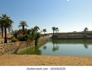 The Sacred pool at Karnak. Luxor Egypt. November 2016