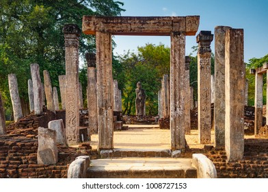 The Sacred Quadrangle, Ancient ruins Sri Lanka, Unesco ancient city Polonnaruwa, Sri Lanka