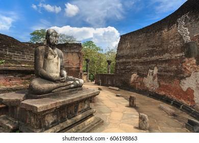 The Sacred Quadrangle temples in Polonnaruwa temples archeological area  - Ancient capital of Ceylon (Sri Lanka) and UNESCO World Heritage Site