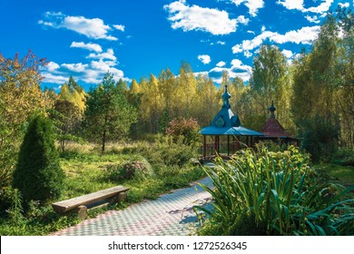Sacred spring of Varvara Iliopolskaya near the village of Kupan, Pereslavsky district, Yaroslavl region, Russia.