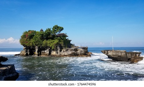 Sacred temple: Tanah Lot in Bali, Indonesia. A place for the hindus to pray.