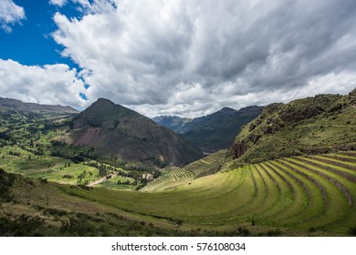 The Sacred Valley and the Inca ruins of Pisac, near Cuzco Peru