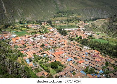 Sacred Valley, Peru March 24, 2015: Scenes of daily life in Ollantaytambo, one of the main towns in Perus picturesque Sacred Valley. General travel imagery for Peru.