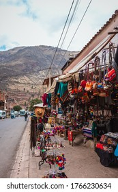 Sacred Valley/Peru - Aug 21 2019: Sobre in the city of Pisac on Sacred Valley