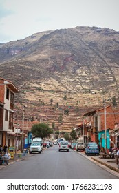 Sacred Valley/Peru - Aug 21 2019: City of Pisac on Sacred Valley