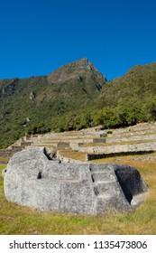 sacrifice rock in Machu Picchu, Peru