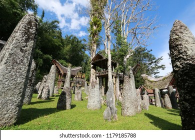 Sacrificial Altar of the Bori' Parinding Megalith Burial Site, an Upper Class Cemetery in Toraja, Sulawesi, Indonesia