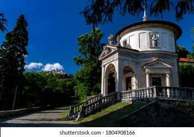 Sacro Monte (VA), Italy - A view of the pilgrimage village of Sa