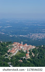 Sacro Monte of Varese (Santa Maria del Monte). Picturesque view of the small medieval village. World heritage site - UNESCO site in Varese, Italy.