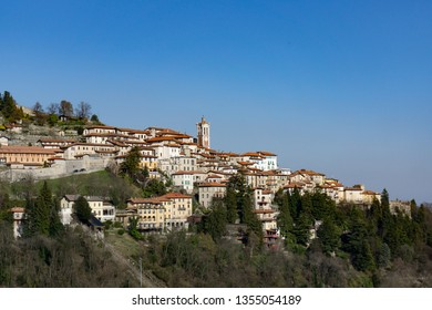 Sacro Monte of Varese (Santa Maria del Monte). Picturesque view of the small medieval village. World heritage site - UNESCO site in Varese, Italy