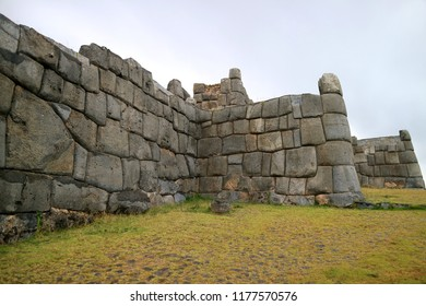 Sacsayhuaman, the ancient citadel of Inca, UNESCO World Heritage Site in Cusco, Peru, Archaeological Site