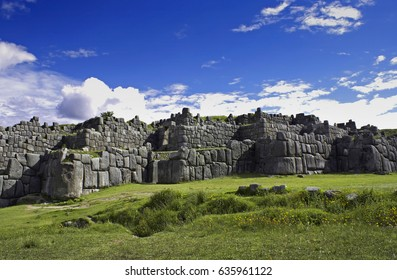 Sacsayhuman stone fortress at Cuzco, Peru.