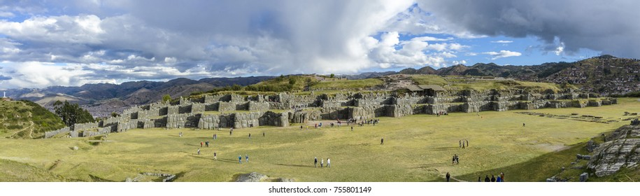 Sacsaywaman, a citadel on the northern outskirts of the city of Cusco, Peru, the historic capital of the Inca Empire.