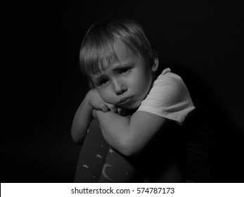 Sad child crying