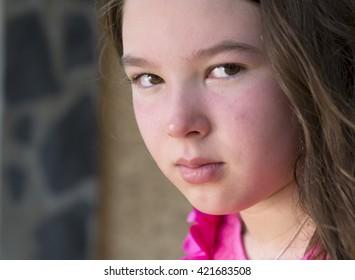 Sad child near window