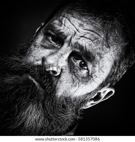 Sad Emotional Portrait Image Old Man Stock Photo Edit Now Enchanting Sad Emotional Pics