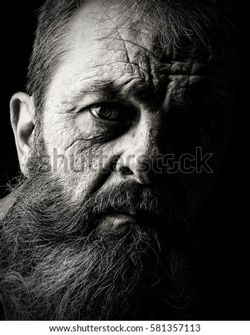 Sad Emotional Portrait Image Old Man Stock Photo Edit Now Awesome Sad Emotional Pics