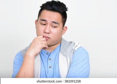 Sad fat man