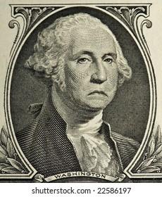 A sad George from a $1 bill
