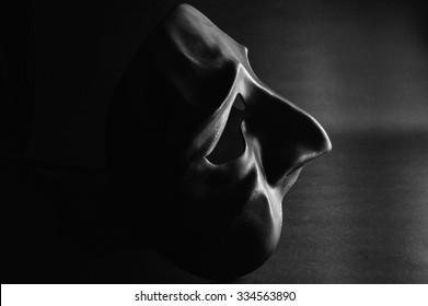 Sad halloween mask