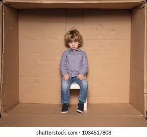 sad little businessman during the first job interview