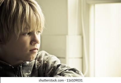 Sad lonely boy