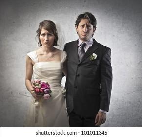 Sad married couple